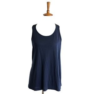 Alo Yoga Tank Top Blue Womens Large Halter Workout